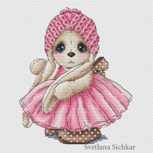 "Cross stitch design ""Bunny Anna"""