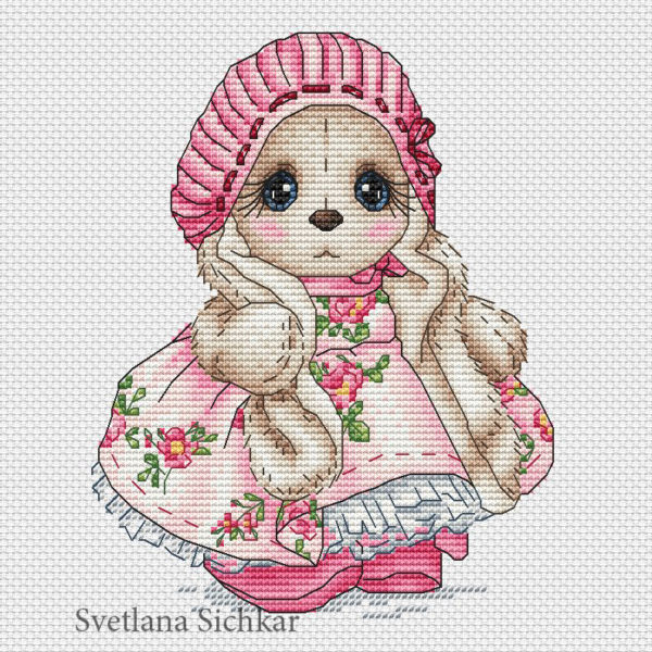 "Cross stitch design ""Bunny Iren"""