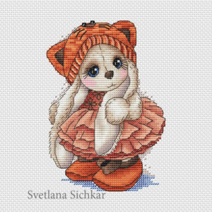 "Cross stitch design ""Bunny Kitty"""