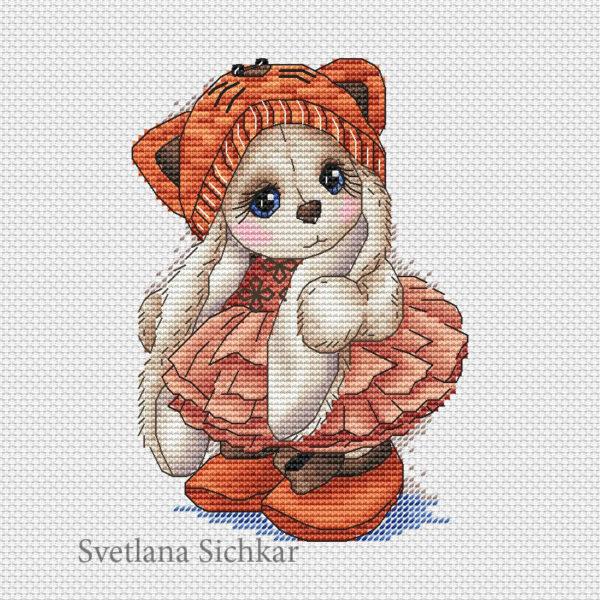 "Cross stitch design ""Bunny Kitty"""