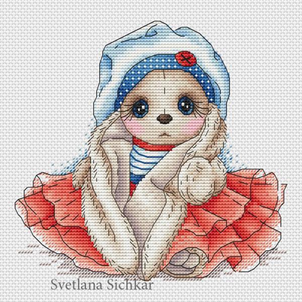 """Cross stitch design """"Bunny Sailor"""""""