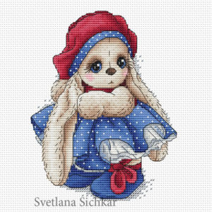 "Cross stitch design ""Bunny Tatiana"""