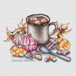"Cross stitch design ""Cocoa"""