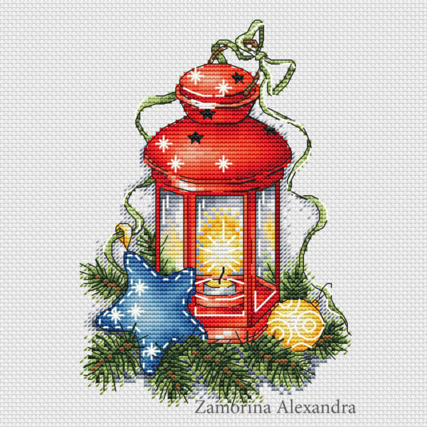 "Cross stitch design ""Color Lantern"""