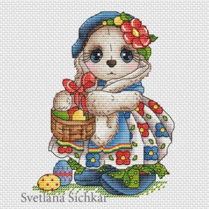 "Cross stitch design ""Ester Bunny"""