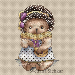 "Cross stitch design ""Hedgehog Nastya"""