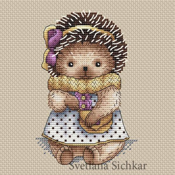"Cross stitch design ""Hedgehog Nastya"""