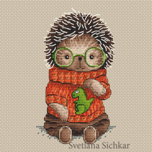 "Cross stitch design ""Hedgehog Vanya"""