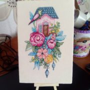 House with peonies