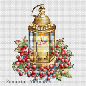 Lantern with berries