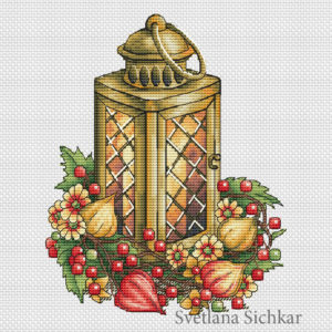 Lantern with physalis