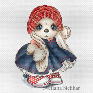 "Cross stitch design ""Little Red Riding Hood"""