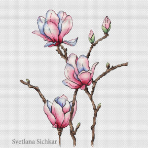 "Cross stitch design ""Magnolia"""