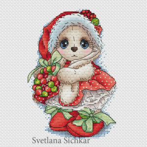 "Cross stitch design ""Maiden"""