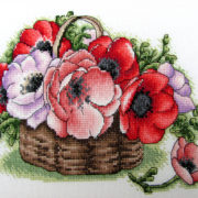 Basket with poppies