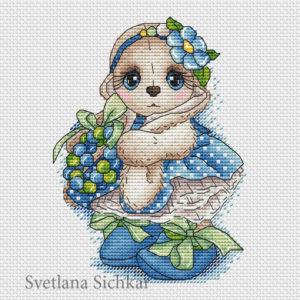 "Cross stitch design ""Spring bunny"""