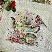 Tea with viburnum