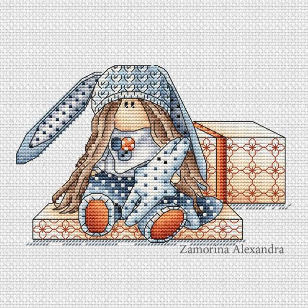 """Cross stitch design """"Tilda Mila"""""""