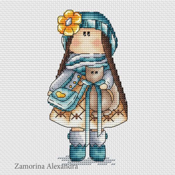 "Cross stitch design ""Tilda Nataly"""