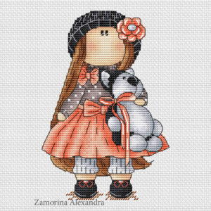 "Cross stitch design ""Tilda Rose"""