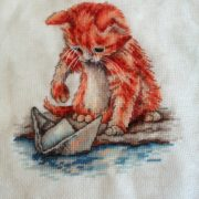 Kitten with a boat
