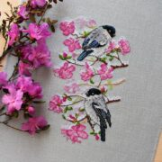 Bullfinches on Wild Rosemary4