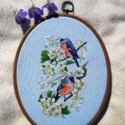 Bullfinches on Cherry Tree1
