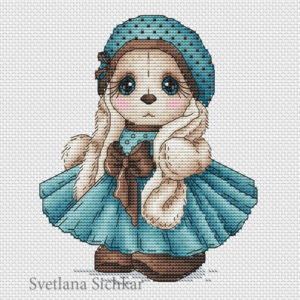 "Cross stitch design ""Bunny Karina"""