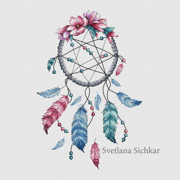 "Cross stitch design ""Dreamcatcher"""