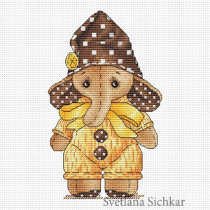 "Cross stitch design ""Elephant"""