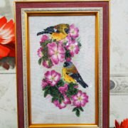 Bullfinches on Rosa Majalis