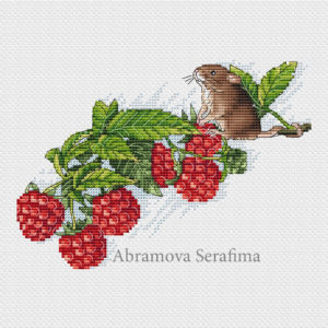 "Cross stitch design ""Summer mouse"""