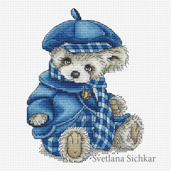 "Cross stitch design ""Teddy"""
