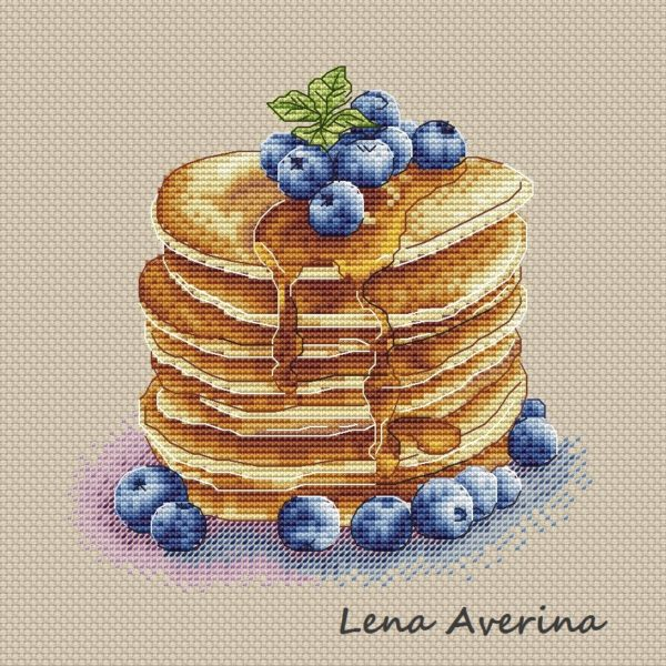 "Cross stitch design ""Pancakes"""
