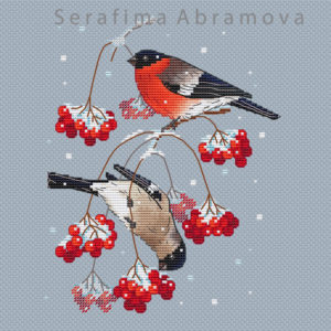 Bullfinches on the Snowball Tree