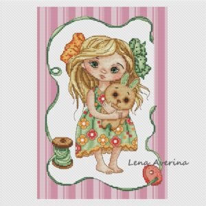 "Cross stitch design ""Beloved bunny"""