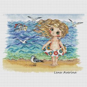 "Cross stitch design ""Sea"""