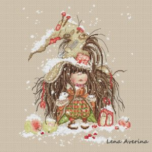 "Cross stitch design ""Early snow"""