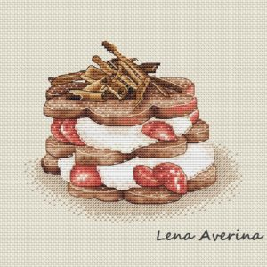 "Cross stitch design ""Chocolate dessert"""