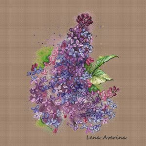 "Cross stitch design ""Lilac"""