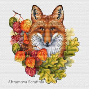 "Cross stitch design ""Autumn Fox"""
