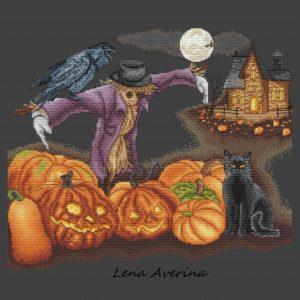 "Cross stitch design ""Halloween"""