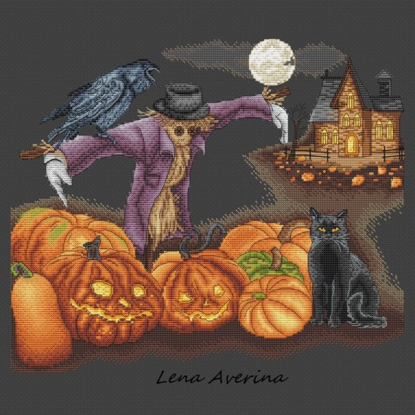 "Cross stitch design ""Halloween"""