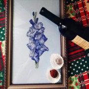 Blue gladiolus