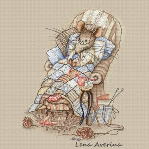 "Cross stitch design ""Rest at the mouse"""