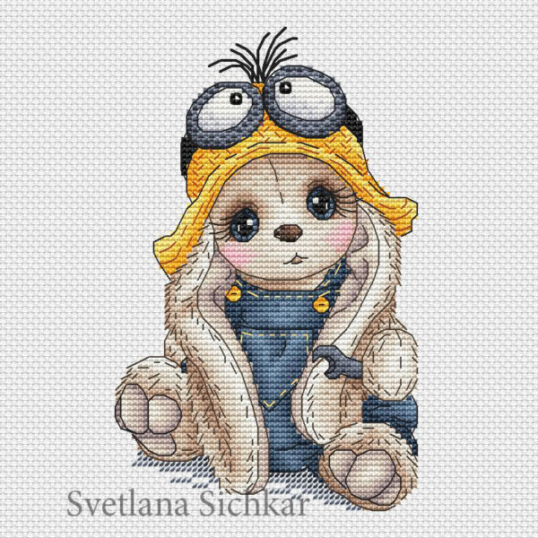 "Cross stitch design ""Bunny Minion"""