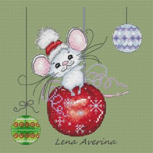 mouse on New Year's ball