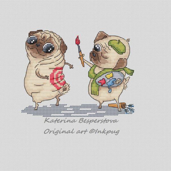 Pug is Artist