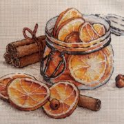 Jar with lemons