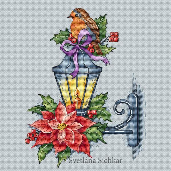 Lantern with a bird